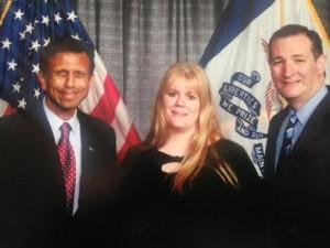 Jenifer with Jindal and Cruz
